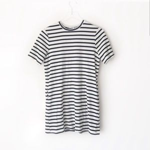 Reformation Charlie striped ribbed T-shirt dress